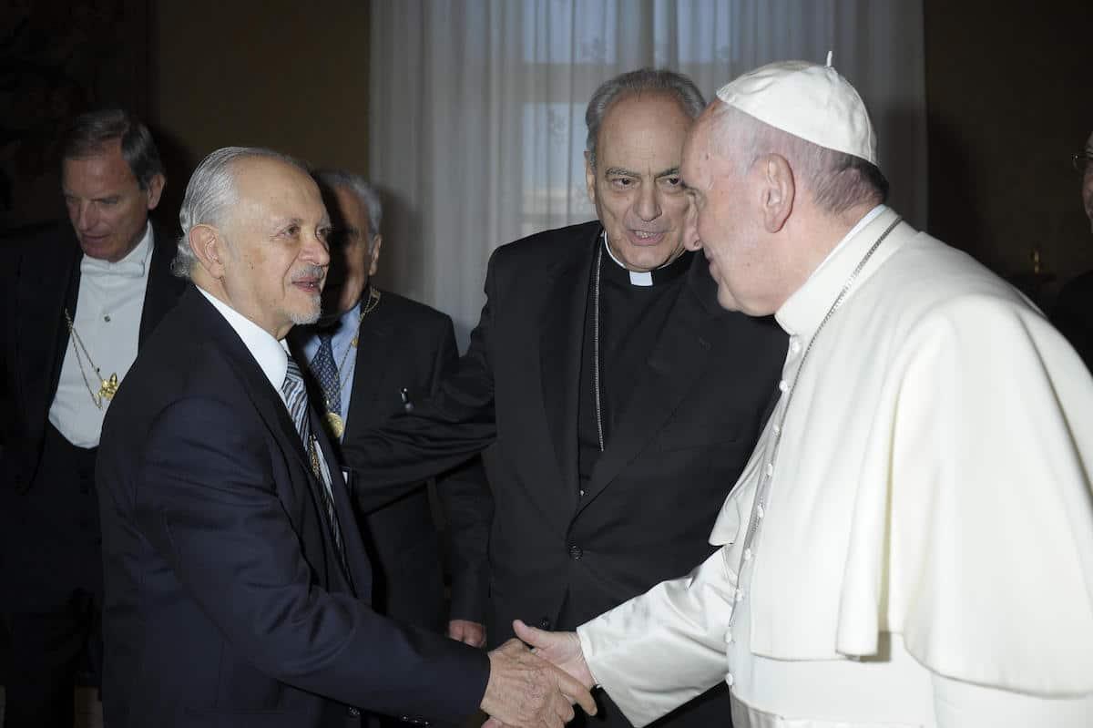 El Dr. Mario Molina con el Papa Francisco en 2016. Foto: Centro Mario Molina