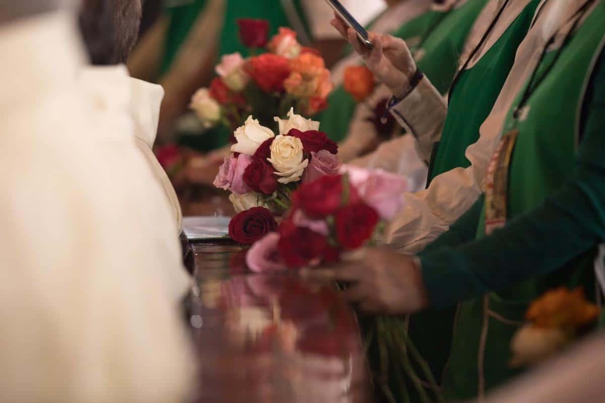 Misa de las rosas de diciembre de 2019. Foto: María Langarica