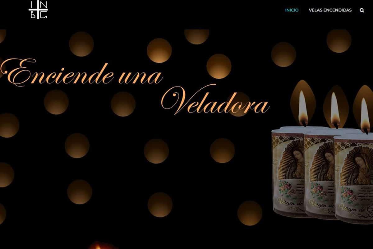 En su sitio web, la Basílica de Guadalupe abrió un espacio para encender una veladora virtual a la Virgen de Guadalupe.
