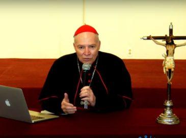 Cardenal Aguiar pide a sacerdotes generar esperanza
