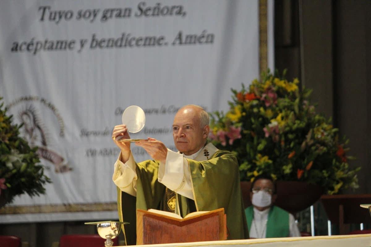 El Arzobispo Carlos Aguiar Retes. Foto: Basílica de Guadalupe.