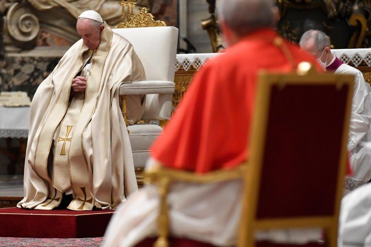 El Papa Francisco en el consistorio de este sábado.
