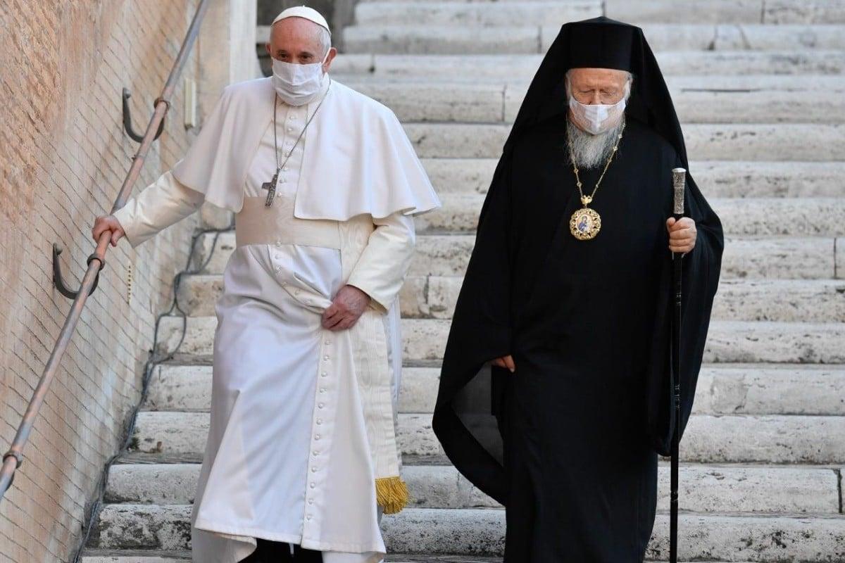 El Papa Francisco y el Patriarca Bartolomé I. Foto: Vatican Media.