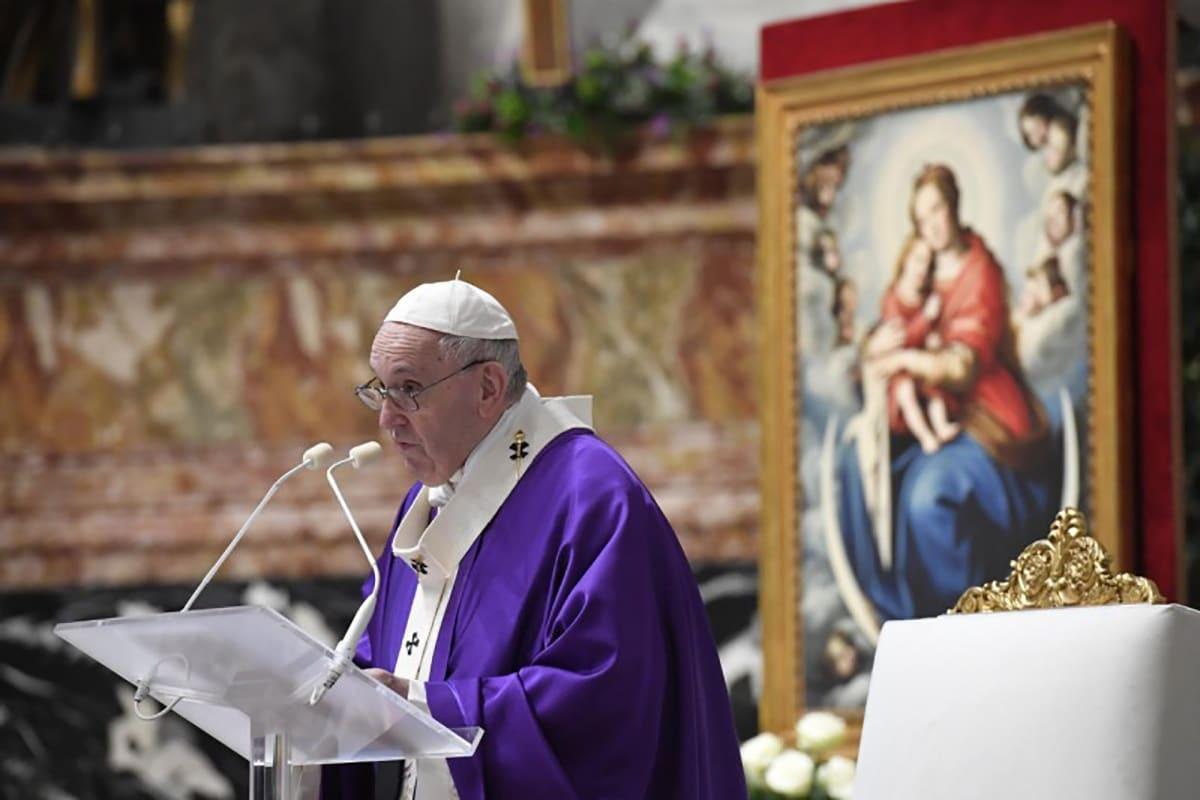El Papa Francisco en la Misa del Primer Domingo de Adviento 2020. Foto: Vatican Media.