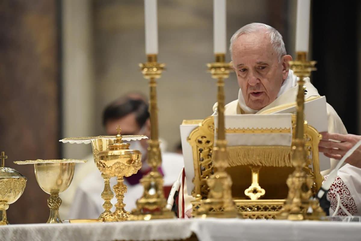 El Papa Francisco en la Misa por la Fiesta de Cristo Rey. Foto: Vatican Media.