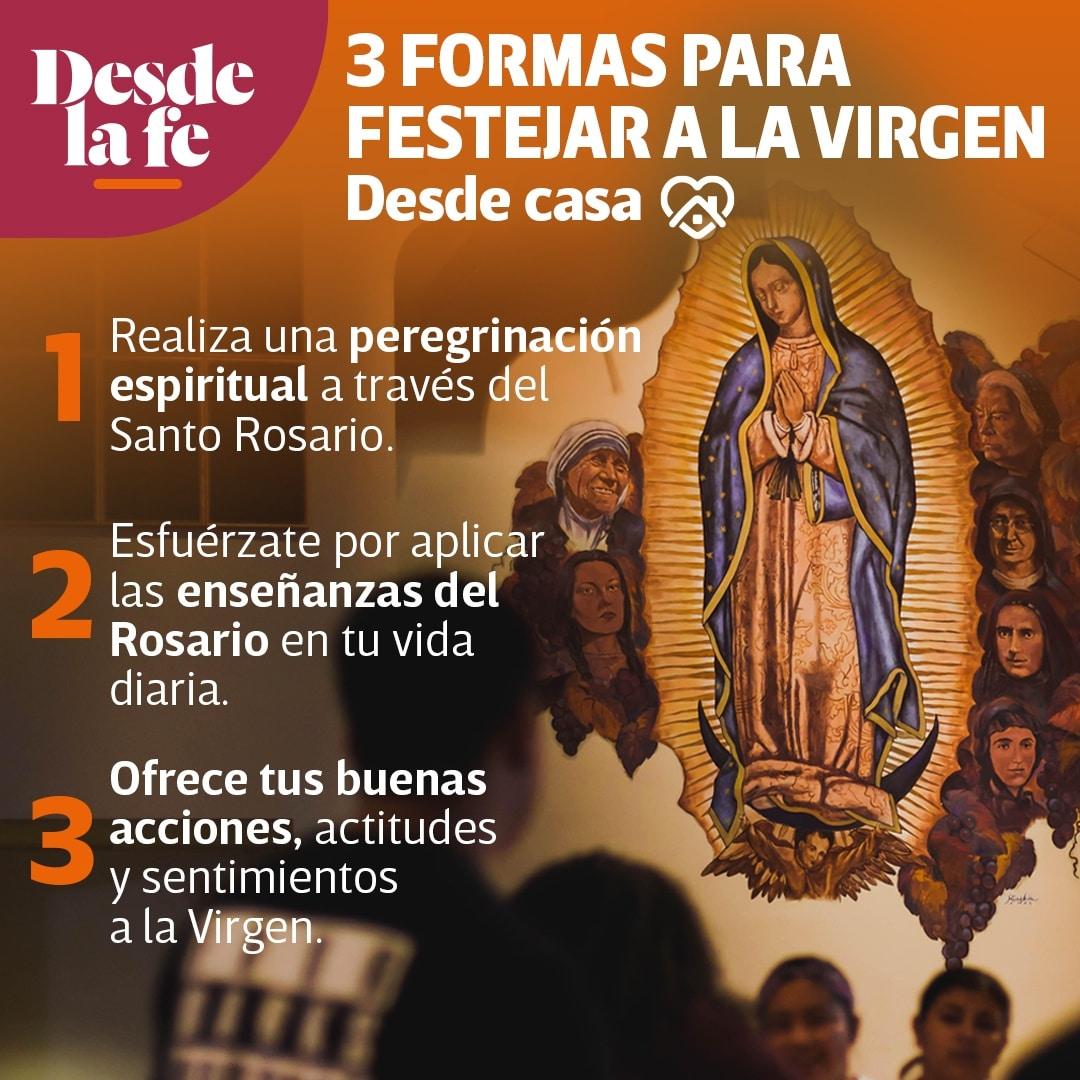 Formas de celebrar a la Virgen de Guadalupe en casa.