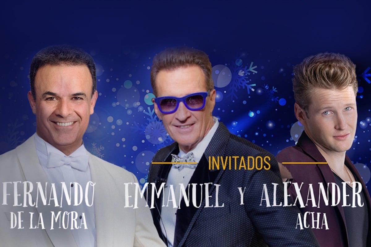 El concierto de Fernando de la Mora, Emmanuel y Alexander Acha será el 18 de diciembre vía digital.