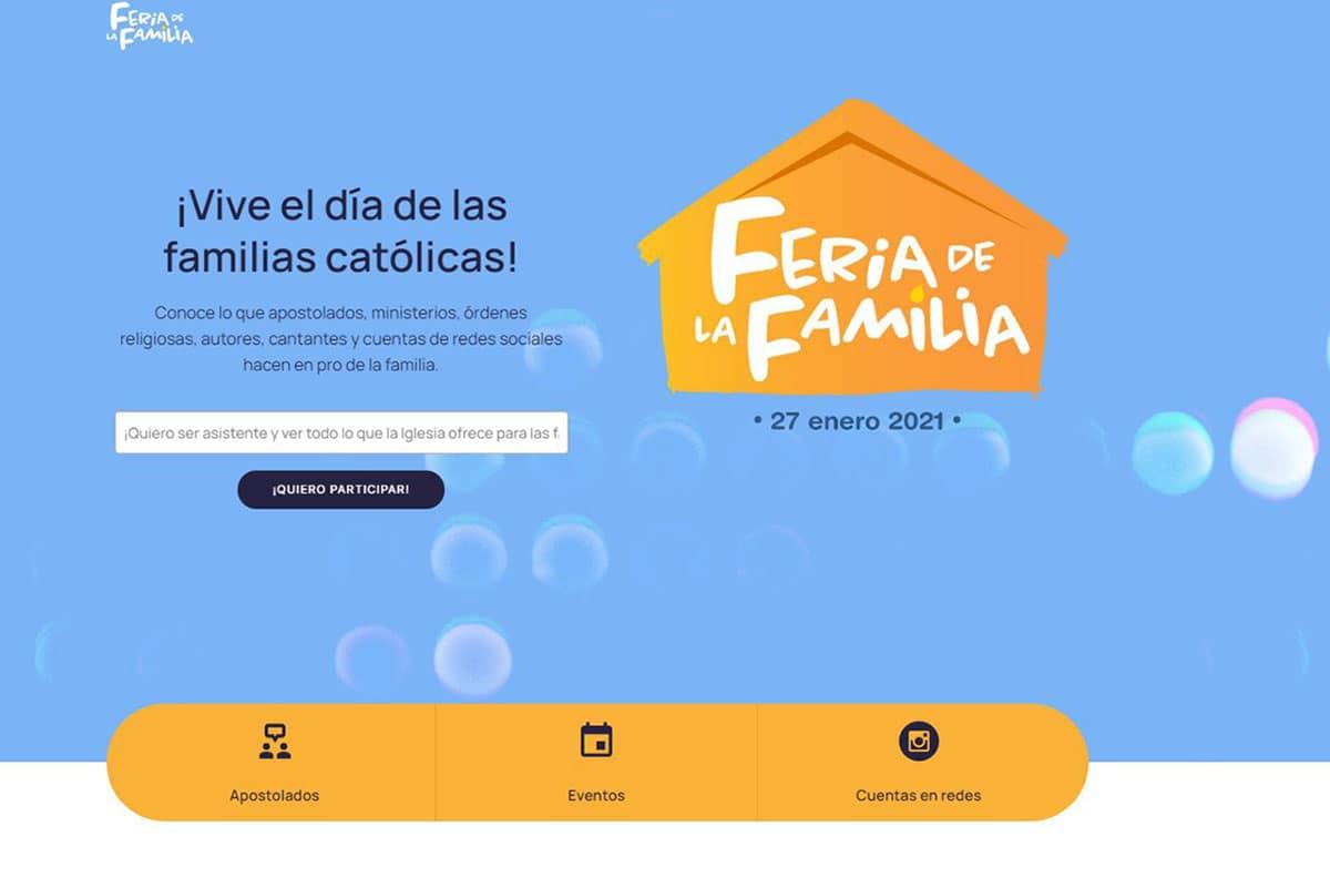 Sitio de la primera Feria de la Familia Católica.