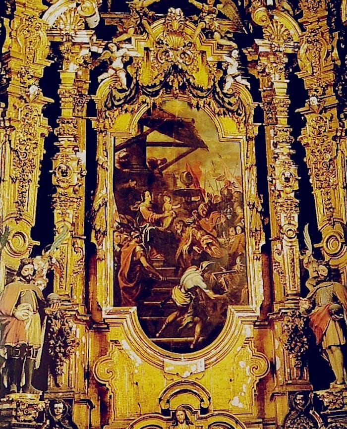 La Adoración de los Magos en el Retablo de los Reyes de la Catedral de México
