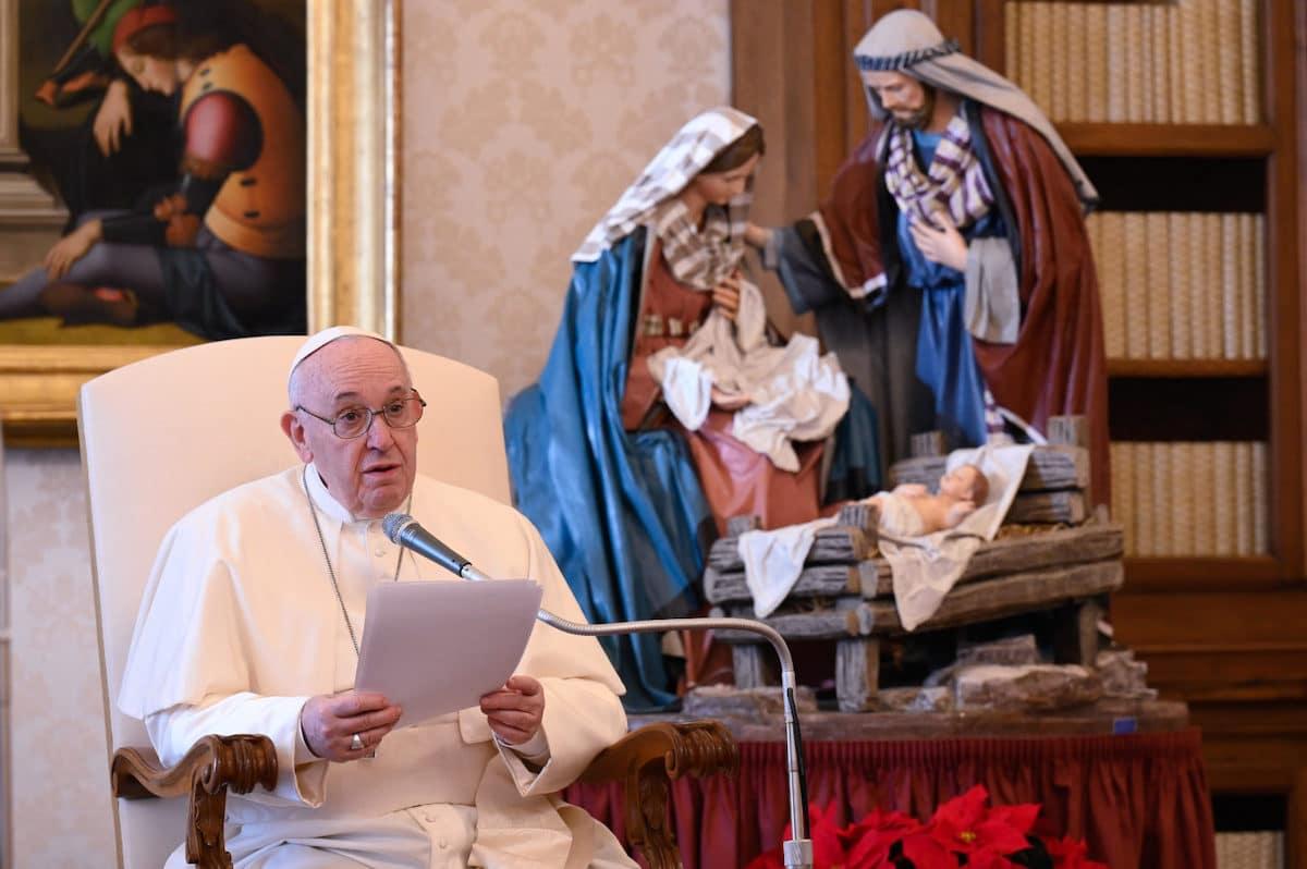 El Papa Francisco en la Audiencia General previa a Navidad. Foto: Vatican Media