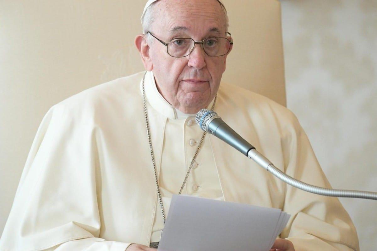 El papa Francisco en la Audiencia General de este miércoles. Foto: Vatican Media.