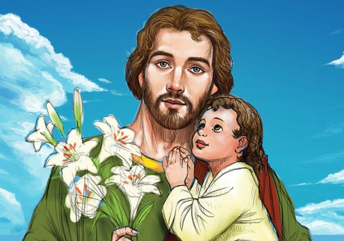 San José, esposo de María y padre adoptivo del Niño Jesús.