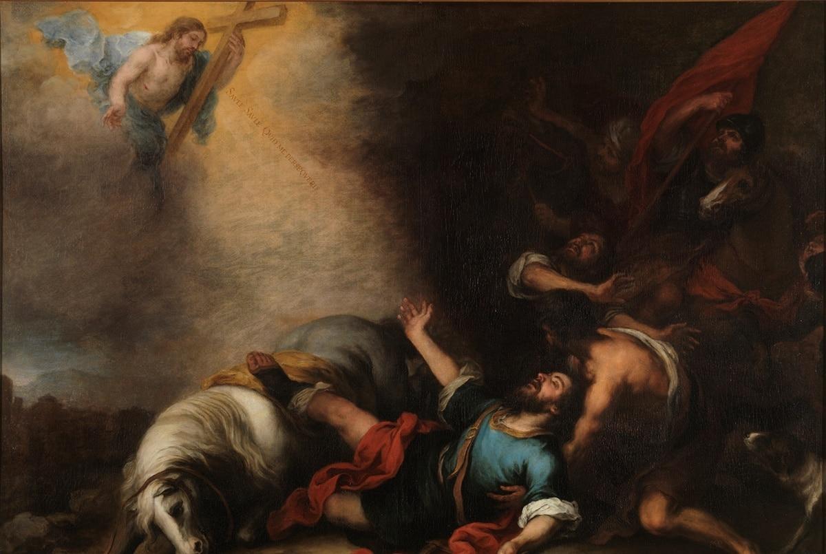 La conversión de san Pablo. Obra de Esteban Bartolomé Murillo. Imagen: Museo del Prado.