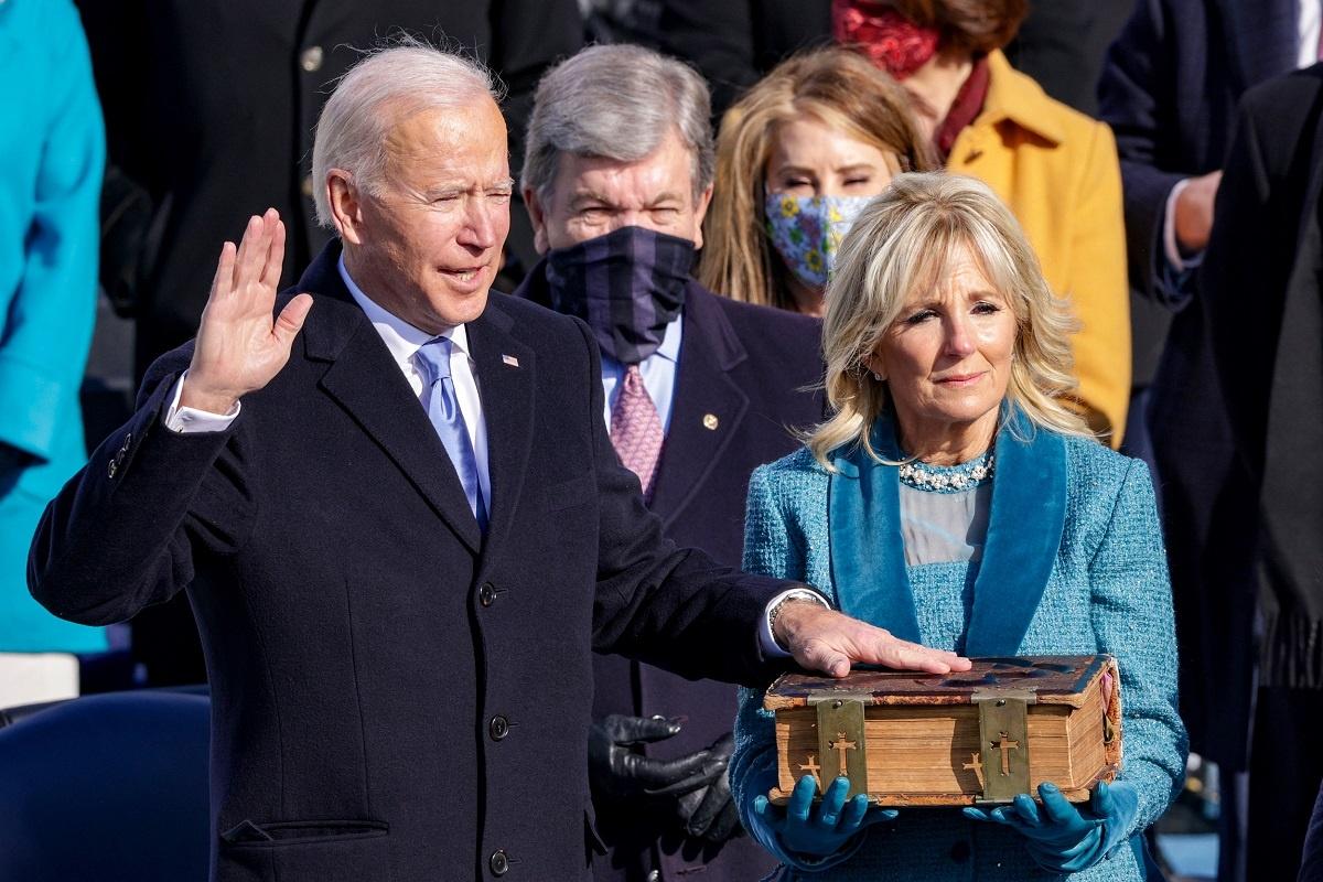Joe Biden toma posesión como presidente de Estados Unidos. Foto: Alex Wong / Getty