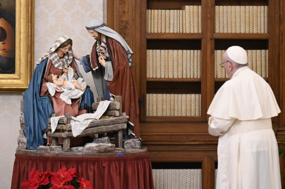El Papa Francisco en el Ángelus. Foto: Vatican Media.