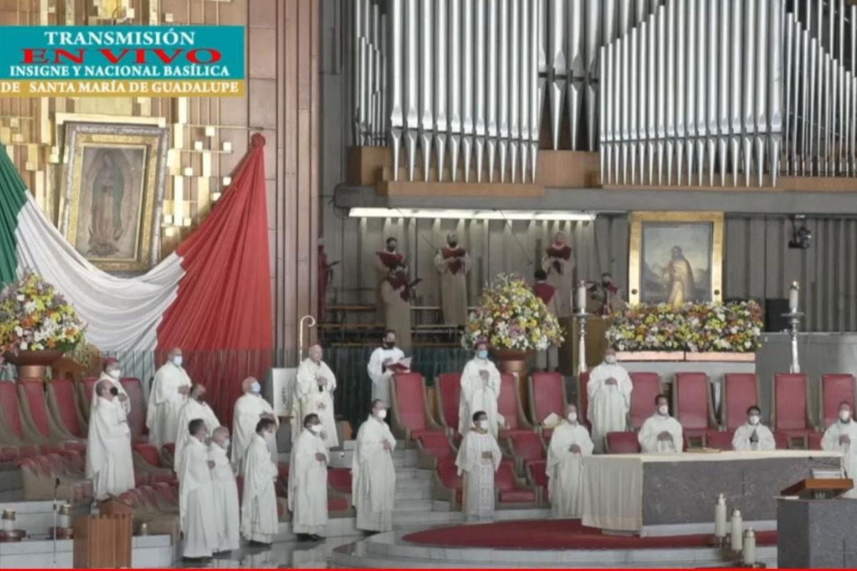 Misa desde la Basílica de Guadalupe en la peregrinación de la Arquidiócesis de México 2021.