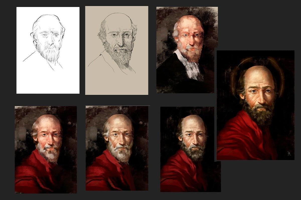 Reconstrucción del rostro de San Pablo. Foto: Vatican News.