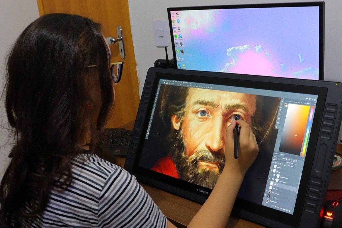 La recreación estuvo a cargo de la artista brasileña Girleyne Costa. Foto: Vatican News.
