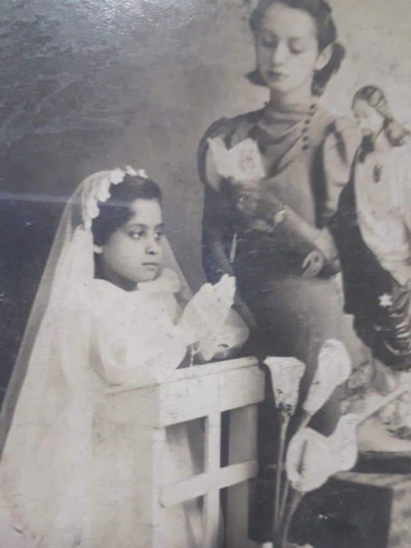 Eva García, el día de su Primera Comunión. Foto: Cortesía.