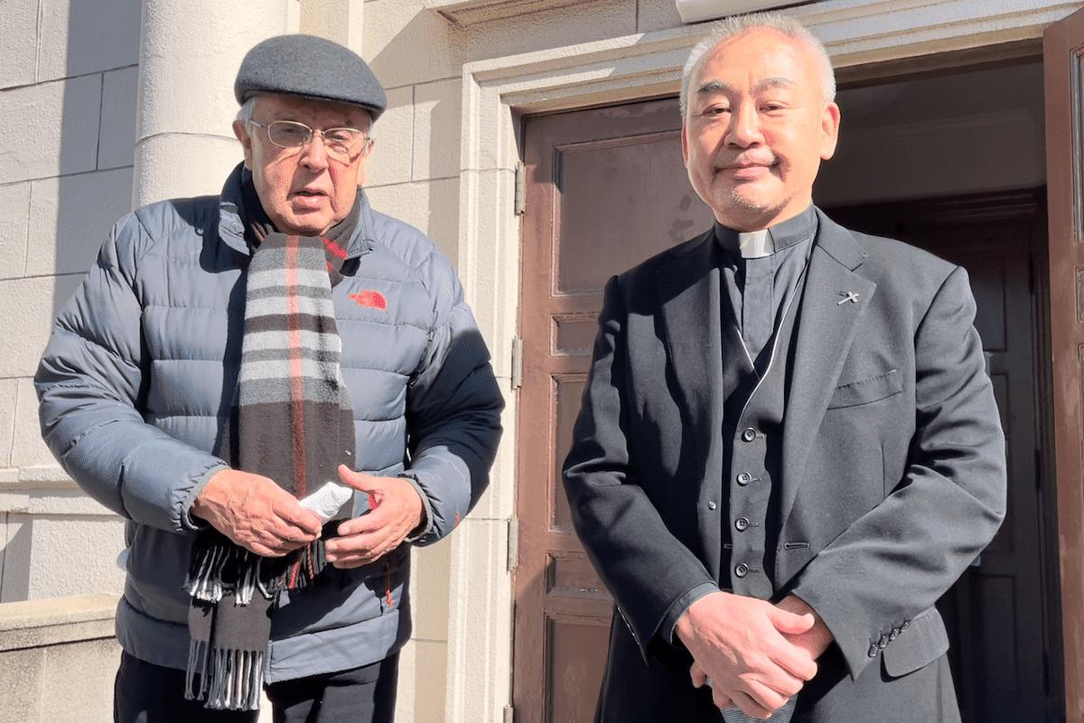 Marco Antonio Martínez y Watanabe en la parroquia de los Mártires de Nagasaki en Tokio Japón