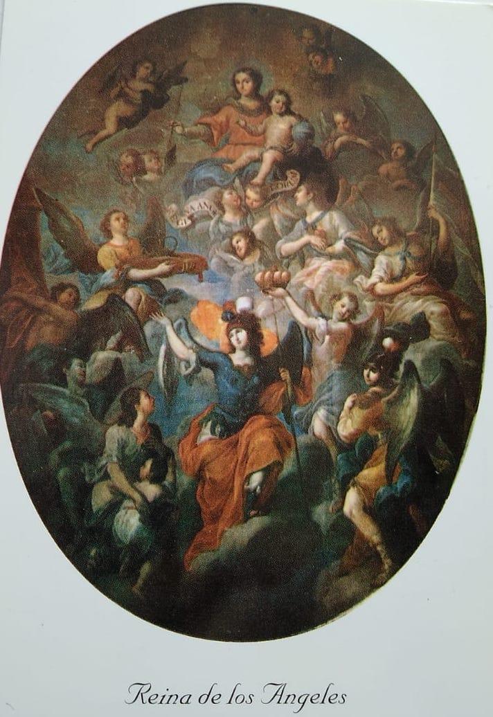 Pintura María Reina de los Ángeles, de Miguel Cabrera