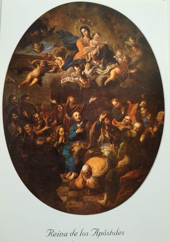 Pintura María Reina de los Apóstoles, de Miguel Cabrera