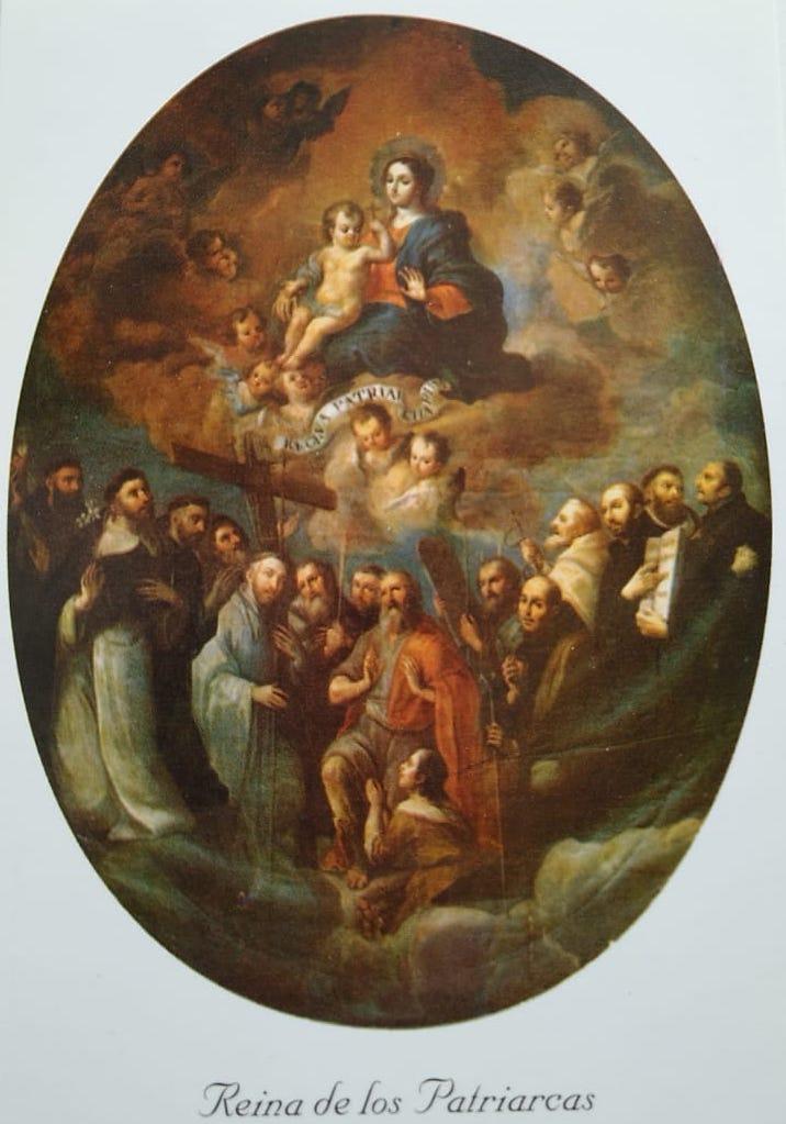 Pintura María Reina de los Patriarcas, de Miguel Cabrera