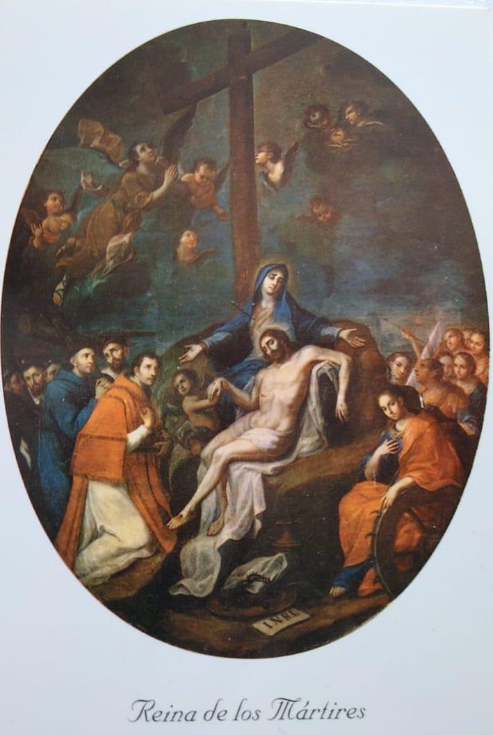 Pintura María Reina de los Mártires, de Miguel Cabrera