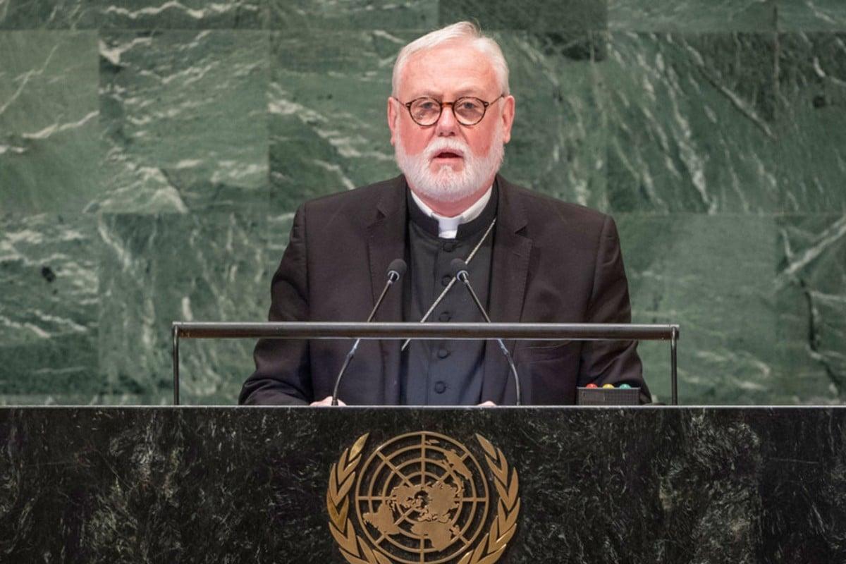 Monseñor Paul Richard Gallagher. Foto: https://news.un.org/