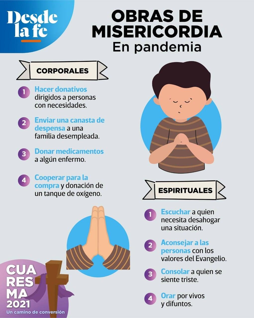 Obras de misericordia en pandemia.