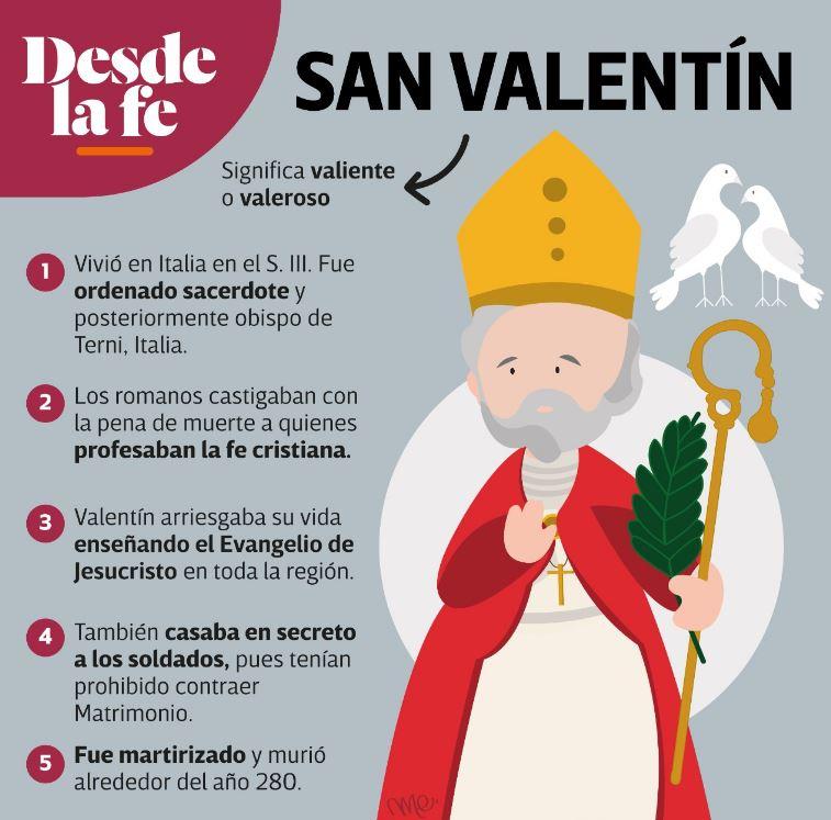 ¿Quién fue san Valentín?, patrono de los enamorados.