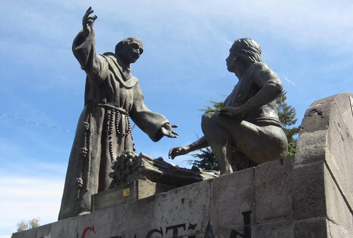 Estatua de Sebastián Aparicio en Puebla, Puebla. Foto: Wikimedia Commons