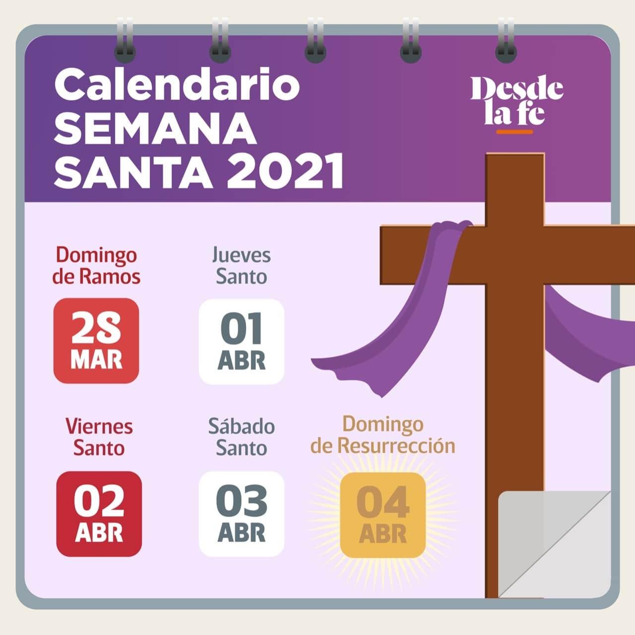 ¿Cuándo es Semana Santa 2021? Calendario de Semana Santa 2021.