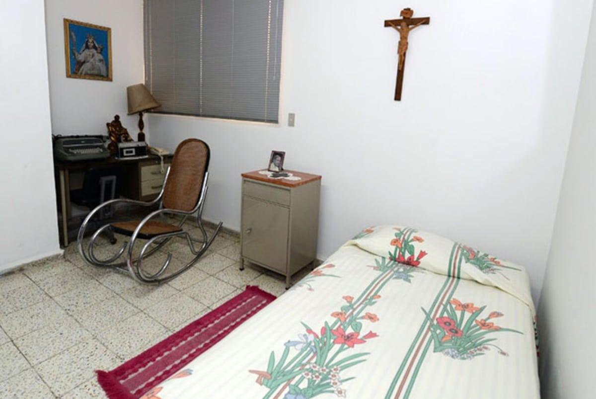 La habitación de san Óscar Romero dentro del Hospital de la Divina Providencia. Foto: Especiales El Salvador