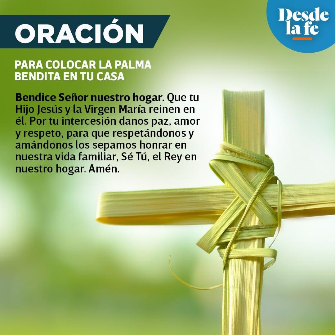 Oración de la palma bendita en Semana Santa 2021