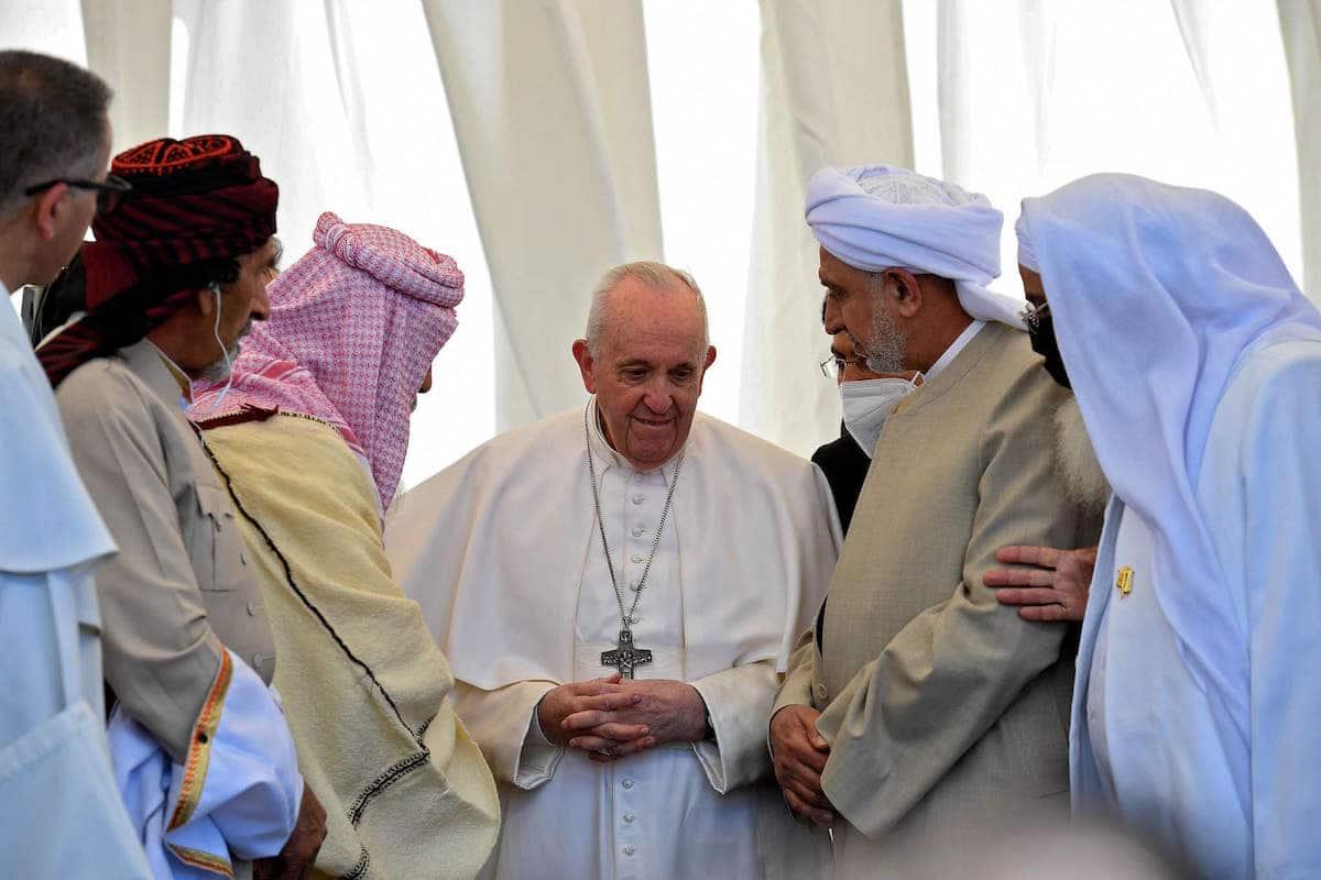 Encuentro interreligioso en Ur de los Calderos presidido por el Papa Francisco. Foto: Vatican Media