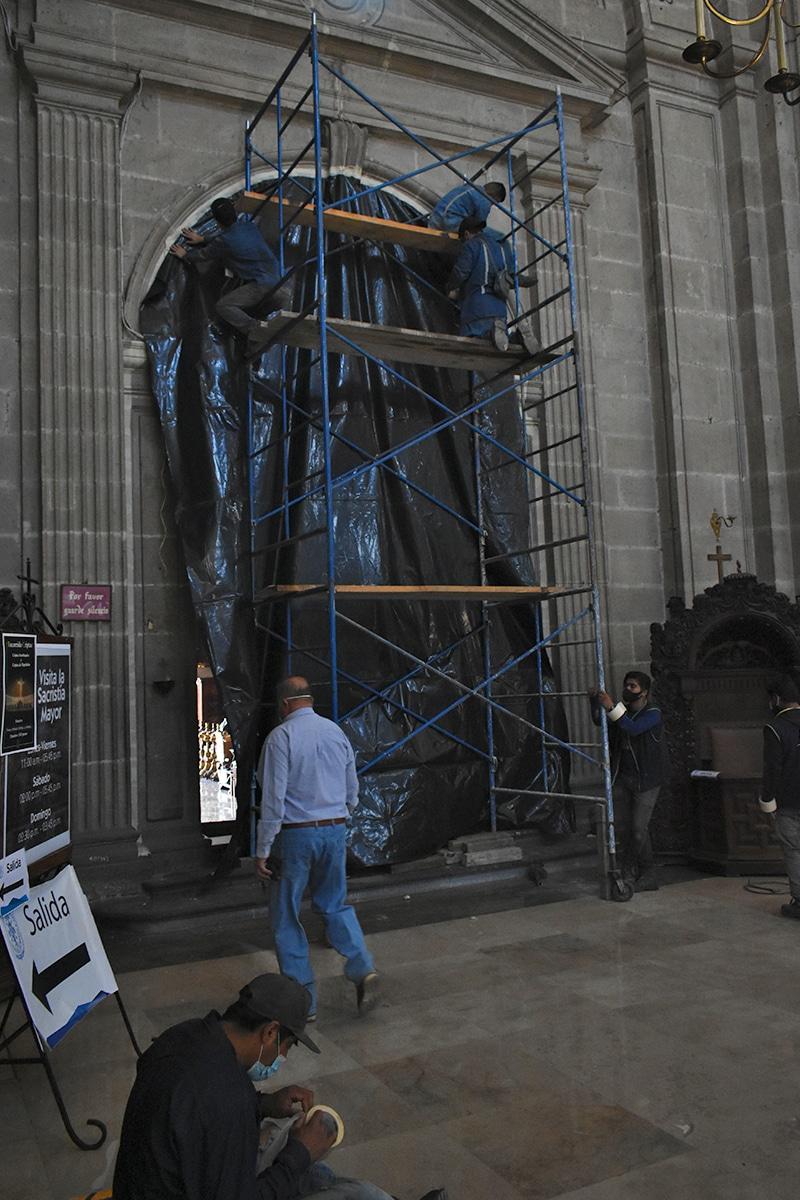 La Sacristía ya se encuentra sellada y lista para ser fumigada. Foto: Ricardo Sánchez/DLF