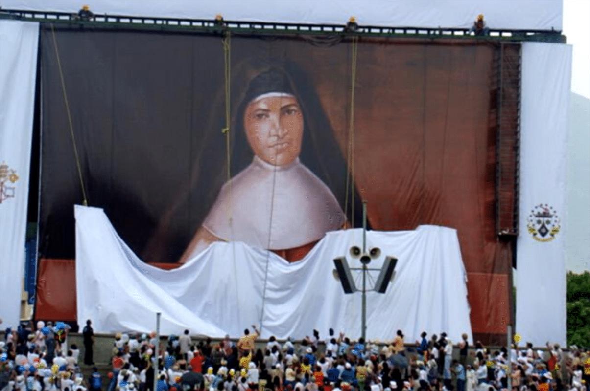 Beatificación de la madre Candelaria de san José. Foto: Conferencia Episcopal Venezolana.