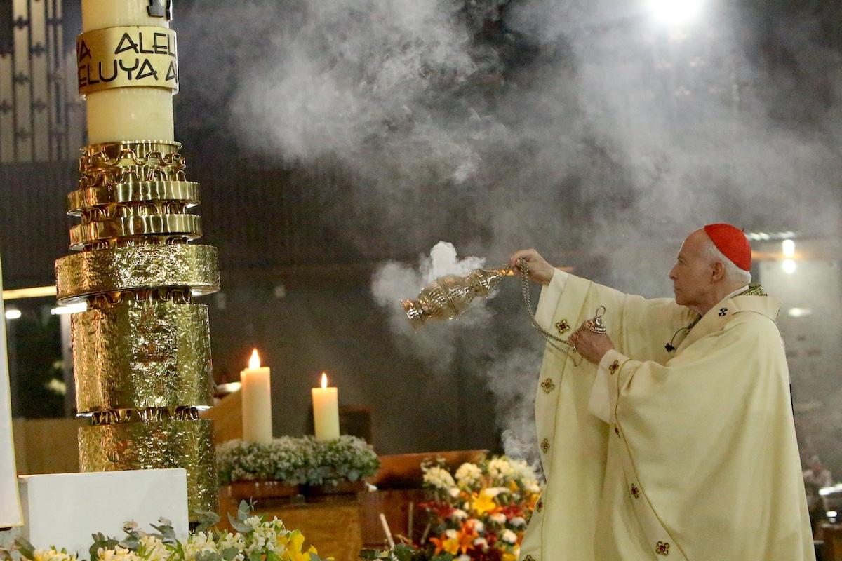 El Cardenal Aguiar en la Misa de la Basílica de Guadalupe. Foto: INBG