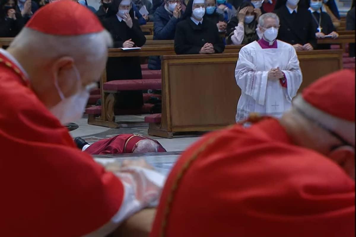 El papa Francisco en la Celebración de la Pasión del Señor.