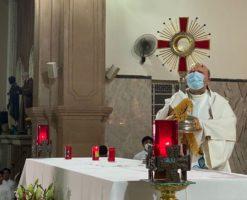 Con una Hora Santa, el Nuncio inició su visita a la Diócesis de Apatzingán