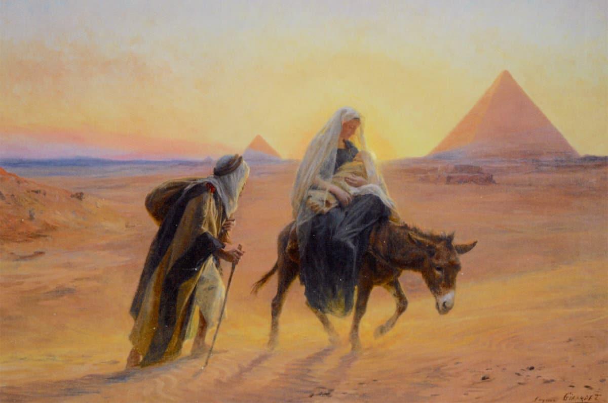 Huida de la Sagrada Familia a Egipto.