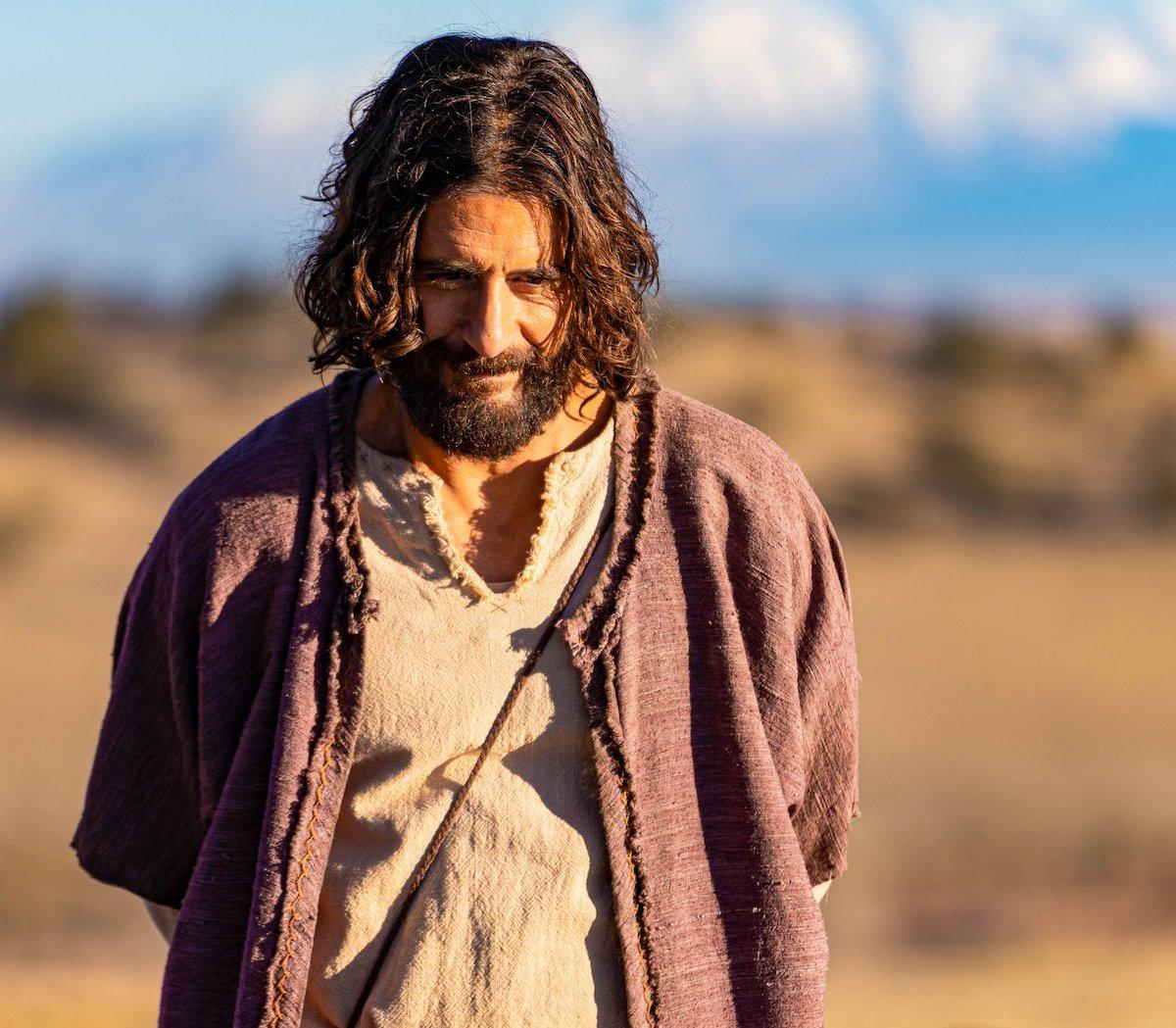 Jonathan Roumie, actor que representa a Jesús en la serie The Chosen.