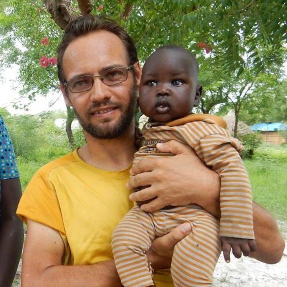 El padre Christian Carlassare, misionero comboniano.