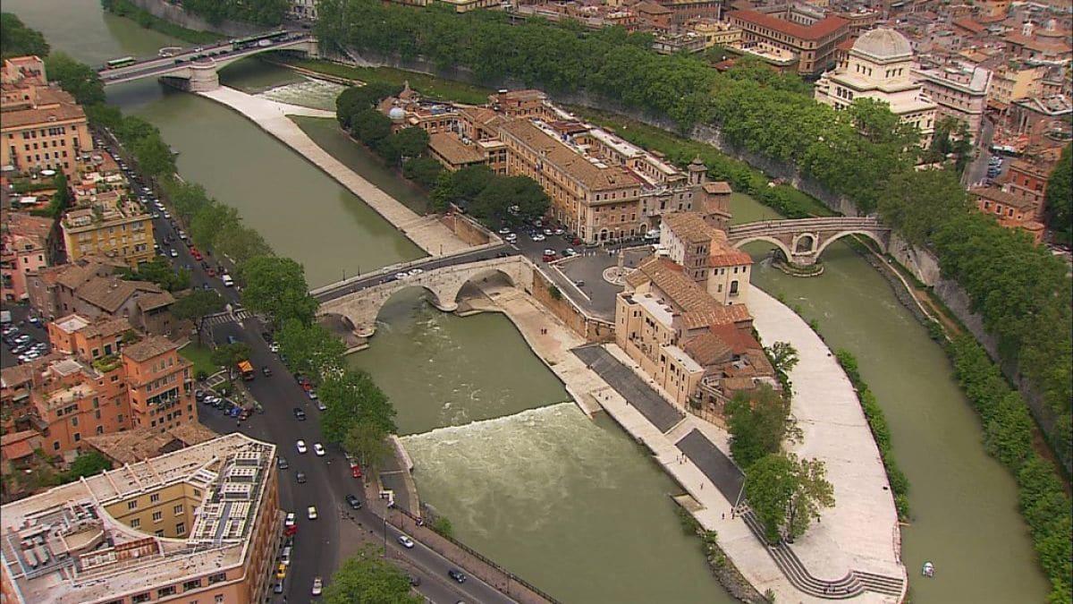 La Isla Tiberina en Roma.
