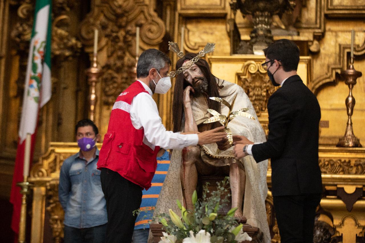El Señor del Cacao estará en el Altar de Reyes de Catedral, como forma de motivar la colecta. Foto: María Langarica.