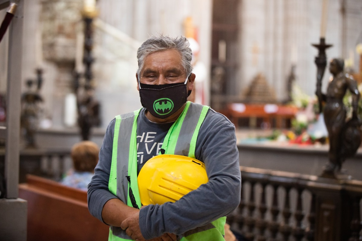 El Día de la Santa Cruz en México está estrechamente relacionado con el trabajo de la construcción. Foto: María Langarica.