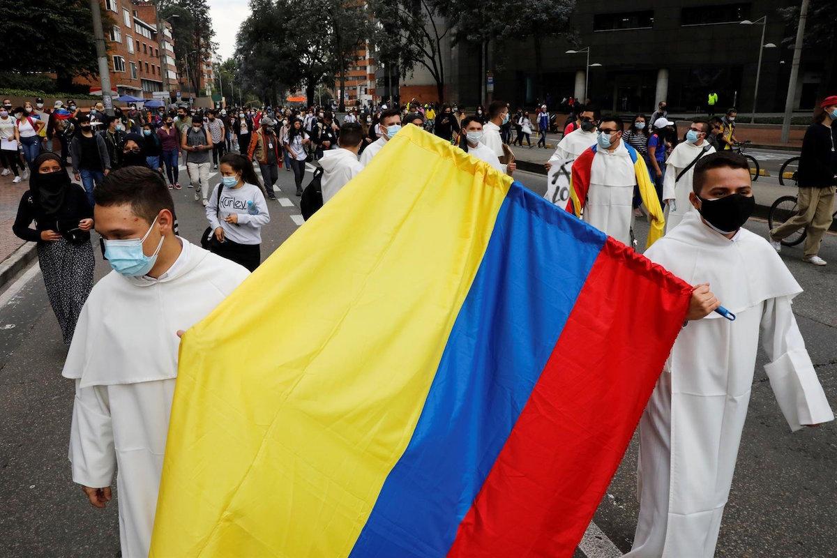 Protestas en Colombia. Foto: Facebook Dominicos