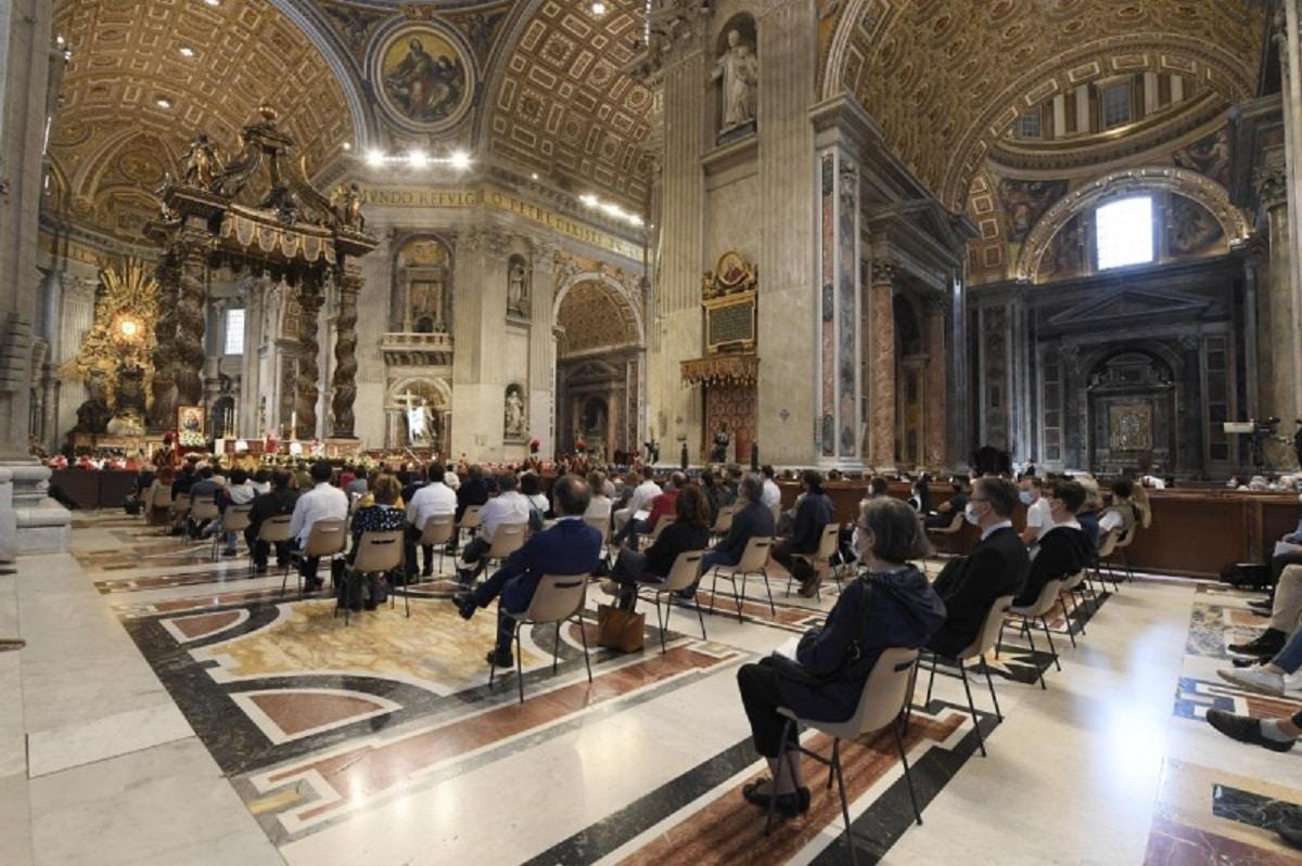La Misa de Pentecostés 2021 en la Basílica Vaticana. Foto: Vatican Media.