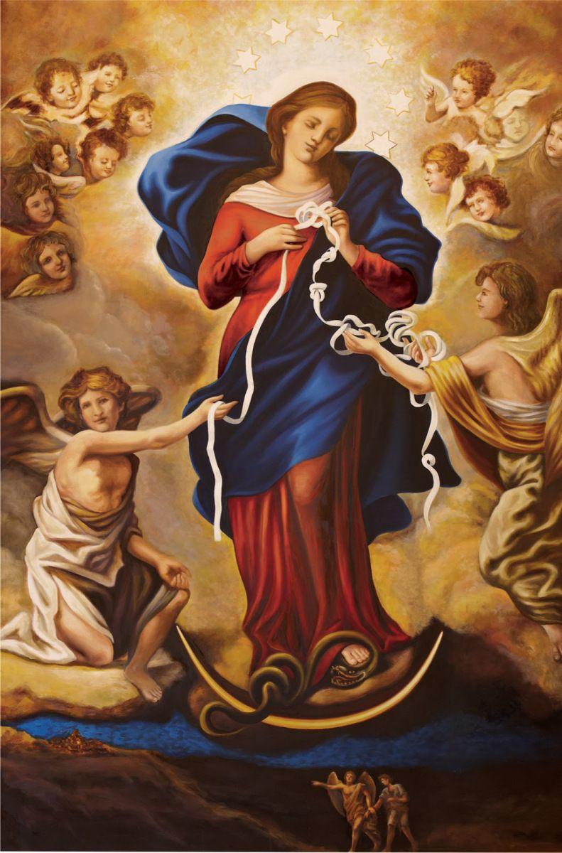 Pintura de la Virgen Desatanudos o Desatadora de nudos.
